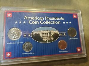 AMERICAN PRESIDENTS COIN COLLECTION MINT WITH CASE 4 COINS 1997