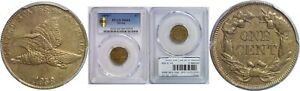 Click now to see the BUY IT NOW Price! 1858/7 FLYING EAGLE CENT PCGS MS 64 STRONG