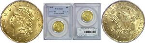 1813 $5 GOLD COIN PCGS MS 63