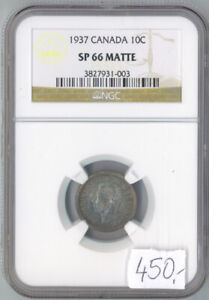 Click now to see the BUY IT NOW Price! CANADA 1937 10 CENTS SP 66  MATTE NGC GRADED 3827931 003