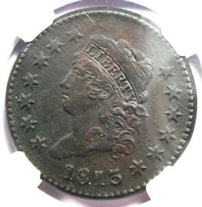 1813 CLASSIC LIBERTY HEAD LARGE CENT 1C   NGC AU DETAIL     DATE COIN IN AU