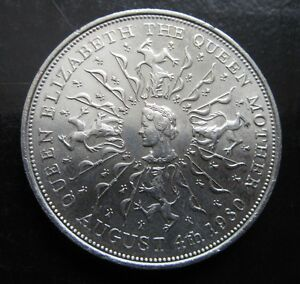 1980 QUEEN ELIZABETH THE QUEEN MOTHER AUGUST 4TH 1980 CROWN. V GOOD CONDITION.