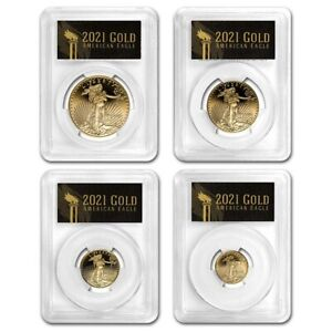 Click now to see the BUY IT NOW Price! 2021 W PROOF AMERICAN GOLD EAGLE SET PR 70 PCGS  FDI BLACK    SKU230829