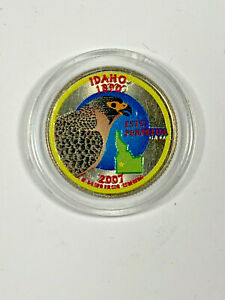 2007 D COLORIZED IDAHO STATE QUARTER