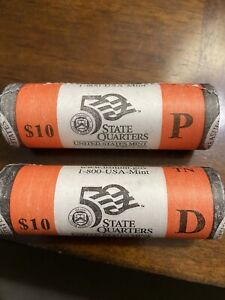US MINT 50 STATE QUARTER TENNESSEE P AND D ROLLS