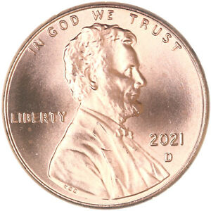 2021 D LINCOLN SHIELD CENT CHOICE BU PENNY US COIN