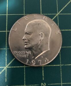 EISENHOWER DOLLAR COIN 1974 D GREAT COLLECTIBLE