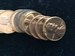 HERE IS A BEAUTIFUL ROLL OF BU 1959 D LINCOLN CENTS