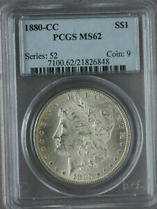 Click now to see the BUY IT NOW Price! 1880 CC CARSON CITY MINT PCGS MS 62 VAM 10 MORGAN SILVER DOLLAR SHIPS FREE