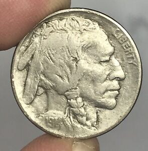 1914 BUFFALO NICKEL WELL DETAILED OBVERSE LAMINATION