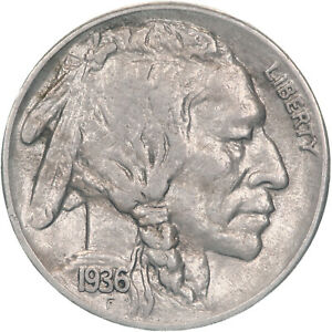 1936 S BUFFALO NICKEL ABOUT UNCIRCULATED AU