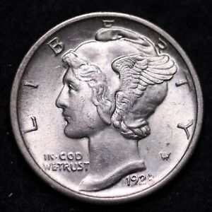 Click now to see the BUY IT NOW Price! 1928 D MERCURY DIME GEM BU  E704 RNPM