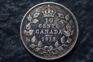 1913  10 CENTS LOT 01 CANADA   IN CANADA FOR YOUR COLLECTION ?
