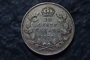 1929  10 CENTS LOT 01 CANADA   IN CANADA FOR YOUR COLLECTION ?