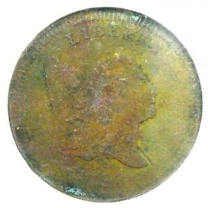 1797 LIBERTY CAP FLOWING HAIR HALF CENT 1/2C   NGC XF DETAIL  EF     COIN