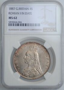 Click now to see the BUY IT NOW Price! GREAT BRITAIN 4 SHILLINGS  2 FLORINS  1887 NGC MS62