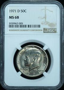 Click now to see the BUY IT NOW Price! 1971 D KENNEDY HALF DOLLAR MS68 NGC STUNNER TOP POP  ONLY 12 EXIST