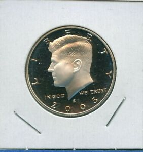 2005 S KENNEDY PROOF 90  SILVER HALF DOLLAR 50C US MINT 10 2005 S PROOF DCAM