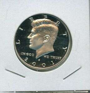 2001 S KENNEDY PROOF 90  SILVER HALF DOLLAR 50C US MINT 11 2001 S PROOF DCAM