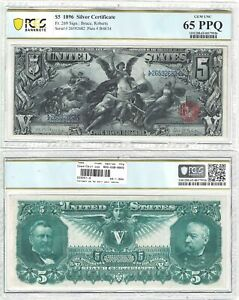 Click now to see the BUY IT NOW Price! 1896 $5 SILVER CERTIFICATE