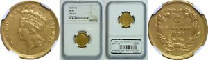 Click now to see the BUY IT NOW Price! 1854 D $3 GOLD COIN NGC AU 53