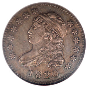 Click now to see the BUY IT NOW Price! 1820 SMALL 0 CAPPED BUST DIME LG SIZE JR 12 10C PCGS XF45