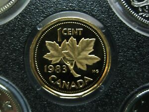 1983 UNC FROSTED PROOF CANADIAN PENNY ONE CENT   1 CENT COIN