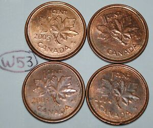 2002 P 2003 P 2004 P 2005 P 1 CENT CANADA STEEL CANADIAN PENNY MAGNETIC LOT W53