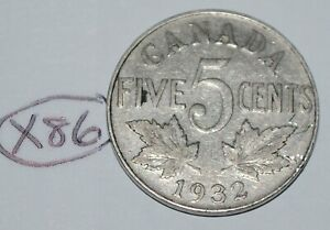 CANADA 1932 5 CENTS GEORGE V CANADIAN NICKEL LOT X86