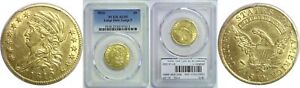 1810 $5 GOLD COIN PCGS AU 55 LARGE DATE LARGE 5