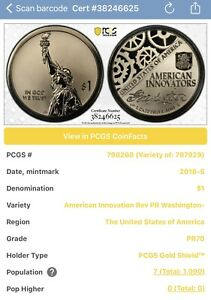Click now to see the BUY IT NOW Price! 2018 S AMERICAN INNOVATION DOLLAR PCGS REV PR70 BLACK ANA CHICAGO  ONLY 7 EXIST
