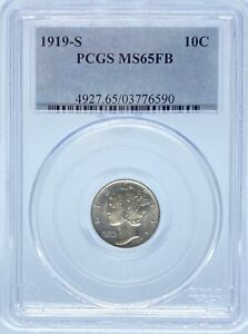 Click now to see the BUY IT NOW Price! 1919 S MERCURY DIME MS65FB PCGS CAC  PA3776590
