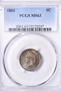 Click now to see the BUY IT NOW Price! 1861 INDIAN HEAD CENT PENNY PCGS MS63 PQ   RHBM