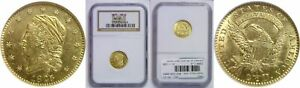 1825 $2.50 GOLD COIN NGC MS 61
