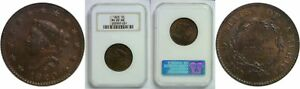 1820 LARGE CENT NGC MS 65 RB