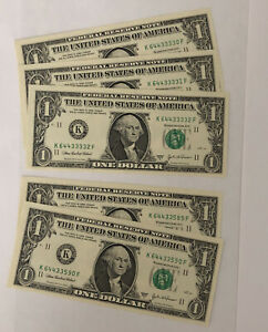 3  2003 FEDERAL RESERVE NOTE ONE DOLLAR BILLS ..$1.00..CONSECUTIVE UNCS