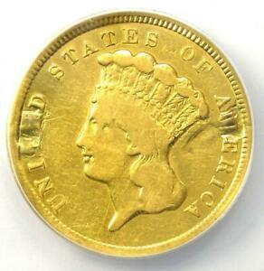 1854 THREE DOLLAR INDIAN GOLD COIN $3   CERTIFIED ANACS F12 DETAILS    COIN