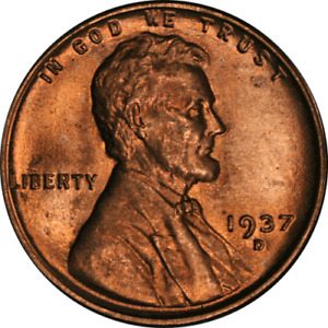 1937 D LINCOLN CENT NICE BU   STOCK