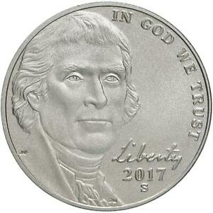 2017 S ENHANCED UNCIRCULATED JEFFERSON NICKEL 225TH ANNIVERSARY US COIN