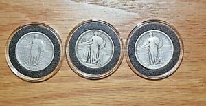 1917 P D S 90  SILVER STANDING LIBERTY QUARTER SET  BARE BREASTED LIBERTY
