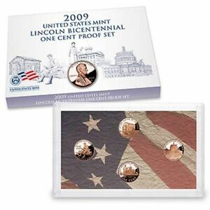 2009 S LINCOLN BICENTENNIAL ONE CENT PROOF SET   U.S. MINT BOX & COA   COMPLETE