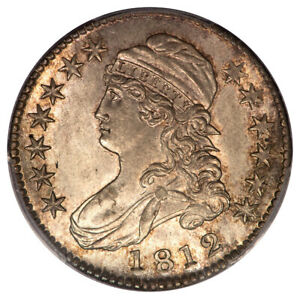 Click now to see the BUY IT NOW Price! 1812 50C OVERTON 107 CAPPED BUST HALF DOLLAR PCGS MS66   CAC