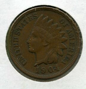 1904 INDIAN PENNY PHILADELPHIA MINT CIRCULATED COIN RC841