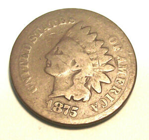1875 INDIAN HEAD CENT  LOT PL41  GOOD CONDITION