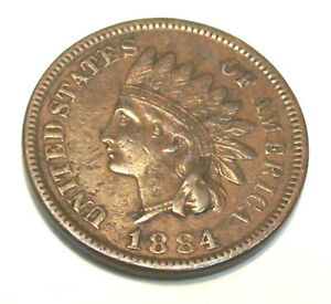 1884 INDIAN HEAD CENT   LOT PL52  VF CONDITION