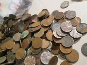 3   POUNDS   CULL WHEAT PENNIES   9 CULL INDIANS   1867 2 CENT PIECE