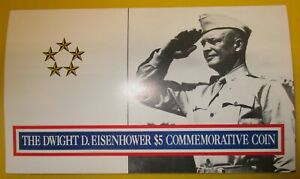 REPUBLIC OF MARSHALL ISLANDS THE DWIGHT D EISENHOWER $5 COMMEMORATIVE COIN