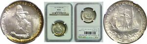 Click now to see the BUY IT NOW Price! 1921 PILGRIM SILVER COMMEMORATIVE NGC MS 66