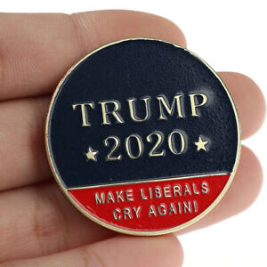 DONALD J. TRUMP 2020 KEEP AMERICA GREAT CHALLENGE COIN COMMEMORATIVE COIN N JF