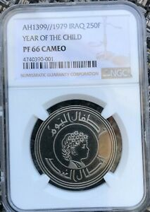 Click now to see the BUY IT NOW Price! IRAQ PROOF 250 FILS OF THE INTERNATIONAL YEAR OF THE CHILD KM144  NGC PR66